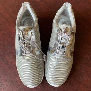 Michael Kors Amanda Silver Sneakers NWOT